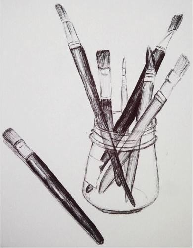 drew painting
