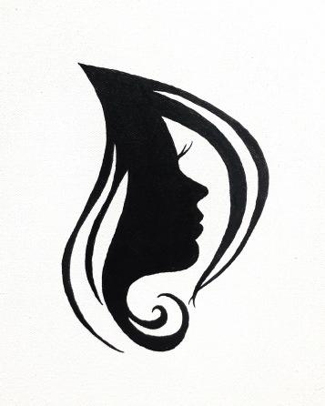 white rose - black shadow