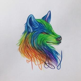 lone wolf Mr. Rainbolf